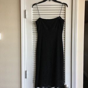 Elie Tahari Lace Spaghetti Strap Black Dress SZ 4